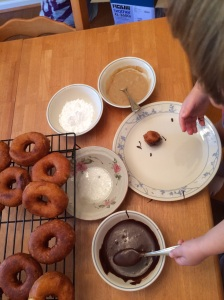 array of donut toppings