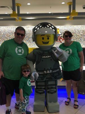 The family and the knight in the Legoland hotel