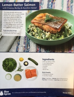 Recipe Card for Lemon Butter Salmon